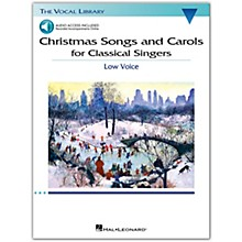Hal Leonard Christmas Songs and Carols for Classical Singers - Low Voice Book/Audio Online