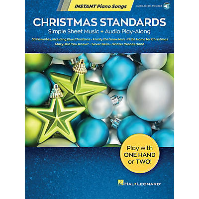 Hal Leonard Christmas Standards - Instant Piano Songs Simple Sheet Music + Audio Play-Along Book/Audio Online