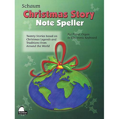 SCHAUM Christmas Story Note Speller Educational Piano Book by Wesley Schaum (Level Elem)