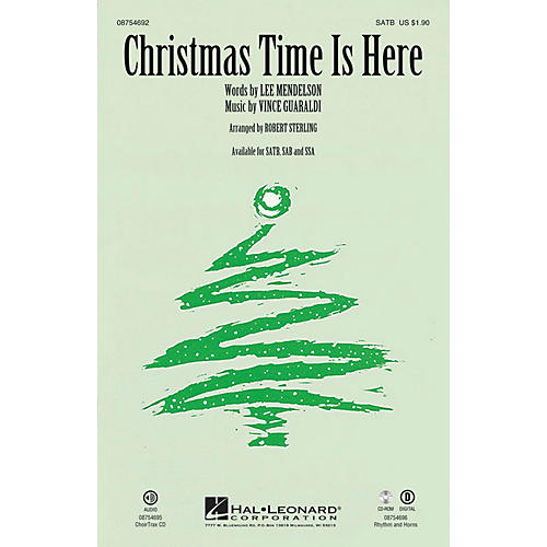 Hal Leonard Christmas Time Is Here SAB Arranged by Robert Sterling