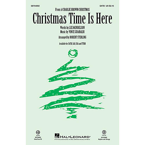 Hal Leonard Christmas Time Is Here SATB arranged by Robert Sterling