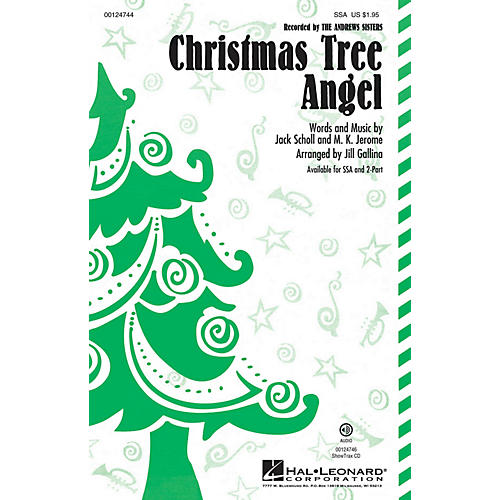 Hal Leonard Christmas Tree Angel SSA by Andrews Sisters arranged by Jill Gallina