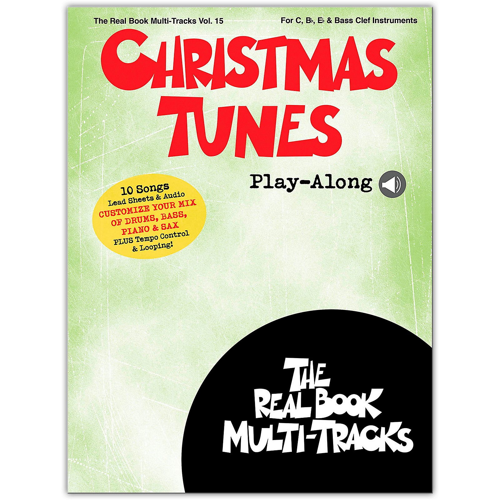 Hal Leonard Christmas Tunes Play-Along Real Book Multi-Tracks Songbook Book/Media Online