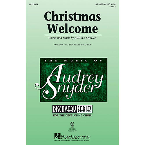 Hal Leonard Christmas Welcome (Discovery Level 2) 3-Part Mixed composed by Audrey Snyder