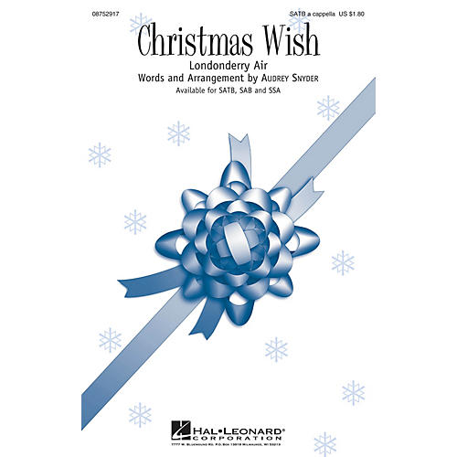 Hal Leonard Christmas Wish SATB composed by Audrey Snyder