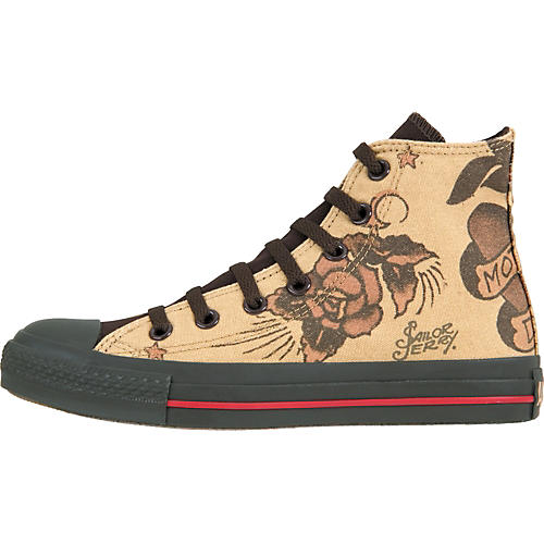Converse Chuck Taylor All Star Sailor Jerry Hi-Tops with Mom/Dad Flash