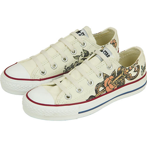 Converse Chuck Taylor All Star Sailor Jerry Snake/Flower Lo-Tops