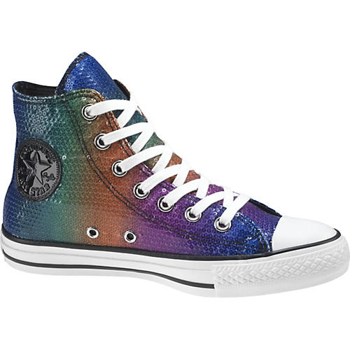 Converse Chuck Taylor All Star Sequins Hi-Top Sneakers (Rainbow)