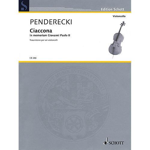 Schott Ciaccona - in Memoriam Giovanni Paolo II String Ensemble by Krzysztof Penderecki
