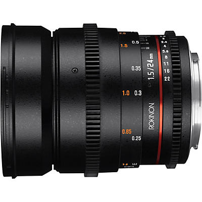 ROKINON Cine DS 24mm T1.5 Wide Angle Cine Lens for Canon EF