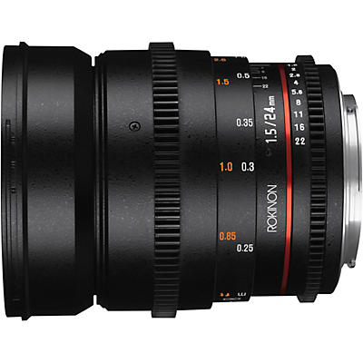 ROKINON Cine DS 24mm T1.5 Wide Angle Cine Lens for Micro Four Thirds
