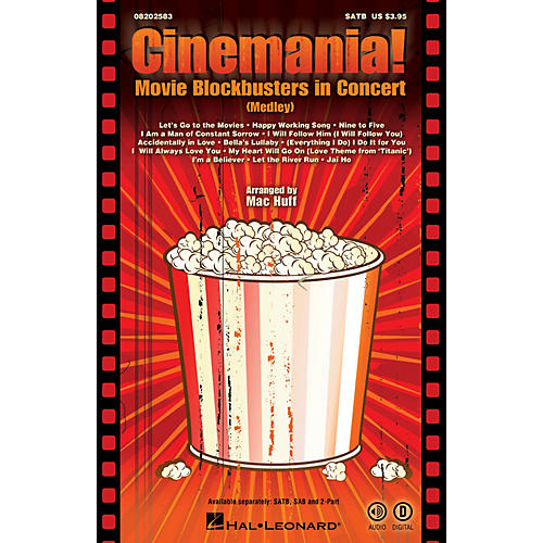 Hal Leonard Cinemania! Movie Blockbusters in Concert (Medley) ShowTrax CD Arranged by Mac Huff