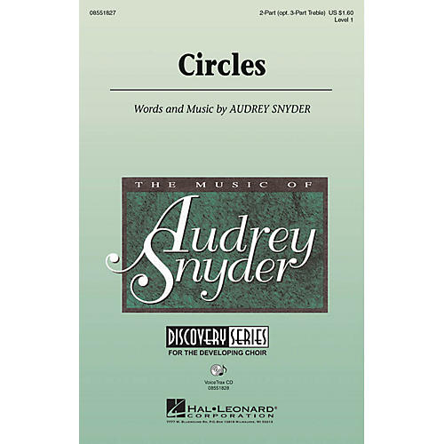 Hal Leonard Circles 2 Part / 3 Part composed by Audrey Snyder