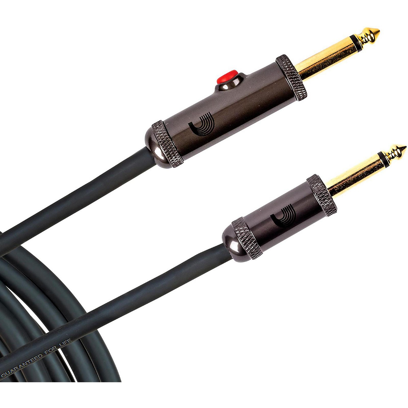 D'Addario Planet Waves Circuit Breaker Instrument Cable with Latching Cut-Off Switch, Straight Plug, by D'Addario