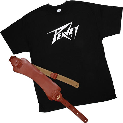 Peavey Cirrus Leather Strap and T-Shirt Value Pack