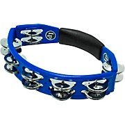 City Series Double Row Hand Held Tambourine, Blue Blue