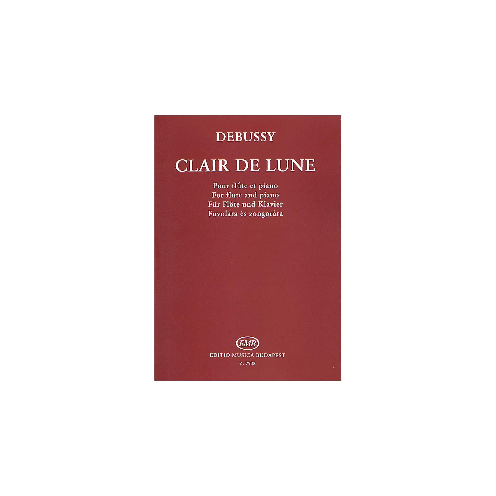 Editio Musica Budapest Clair de Lune EMB Series by Claude Debussy