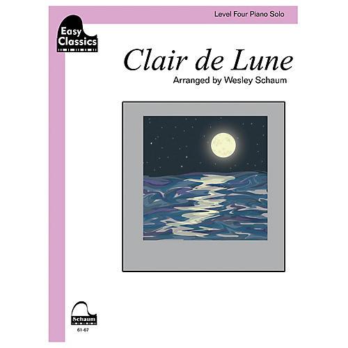 SCHAUM Clair de Lune Educational Piano Book by Claude Debussy (Level 4)