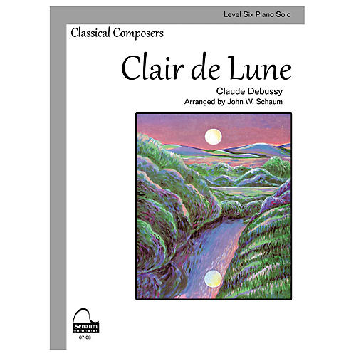 SCHAUM Clair de Lune (Schaum Level Six Piano Solo) Educational Piano Book by Claude Debussy