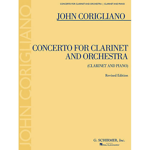 G. Schirmer Clarinet Concerto - Revised Edition Woodwind Series Softcover Composed by John Corigliano