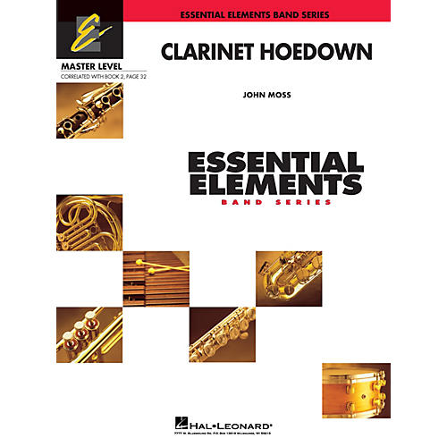 Hal Leonard Clarinet Hoedown (Includes Full Performance CD) Concert Band Level 2 Composed by John Moss