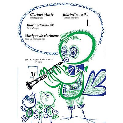 Editio Musica Budapest Clarinet Music for Beginners - Volume 1 EMB Series