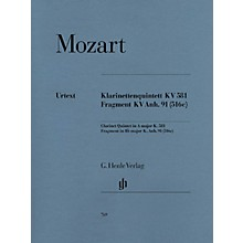 G. Henle Verlag Clarinet Quintet A Major K581 and Fragment K.Anh. 91 (516c) Henle Music Folios by Mozart