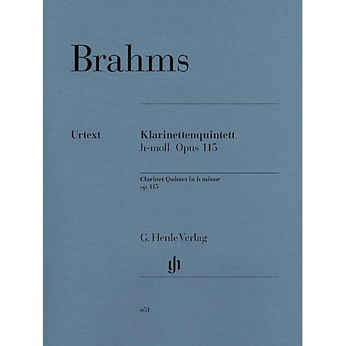 G. Henle Verlag Clarinet Quintet B minor Op. 115 Henle Music Folios Series Softcover by Johannes Brahms