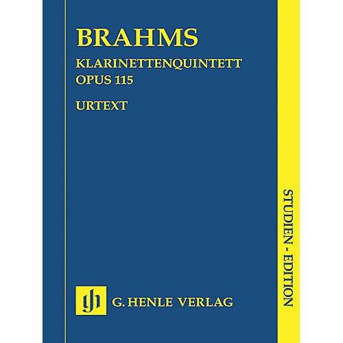 G. Henle Verlag Clarinet Quintet B minor Op. 115 (Study Score) Henle Study Scores Series Softcover by Johannes Brahms