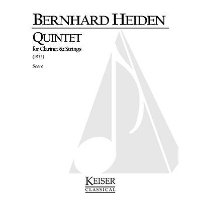 Lauren Keiser Music Publishing Clarinet Quintet LKM Music Series Composed by Bernhard Heiden