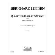 Lauren Keiser Music Publishing Clarinet Quintet (Solo Part) LKM Music Series Composed by Bernhard Heiden