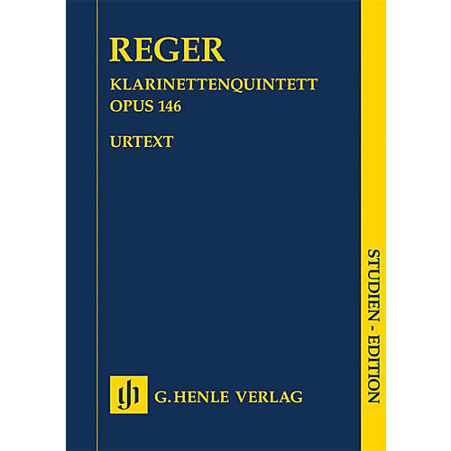 G. Henle Verlag Clarinet Quintet in A Major Op. 146 Henle Study Scores Series Softcover Composed by Max Reger
