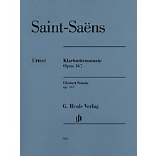 G. Henle Verlag Clarinet Sonata, Op. 167 Henle Music Folios Softcover Composed by Saint-Saens Edited by Peter Jost