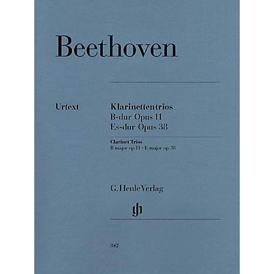 G. Henle Verlag Clarinet Trios B Flat Major Op. 11 and E Flat Major Op. 38 Henle Music by Ludwig van Beethoven