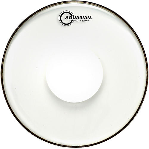 Aquarian Classic Clear With Power Dot Tom Head 16 in.