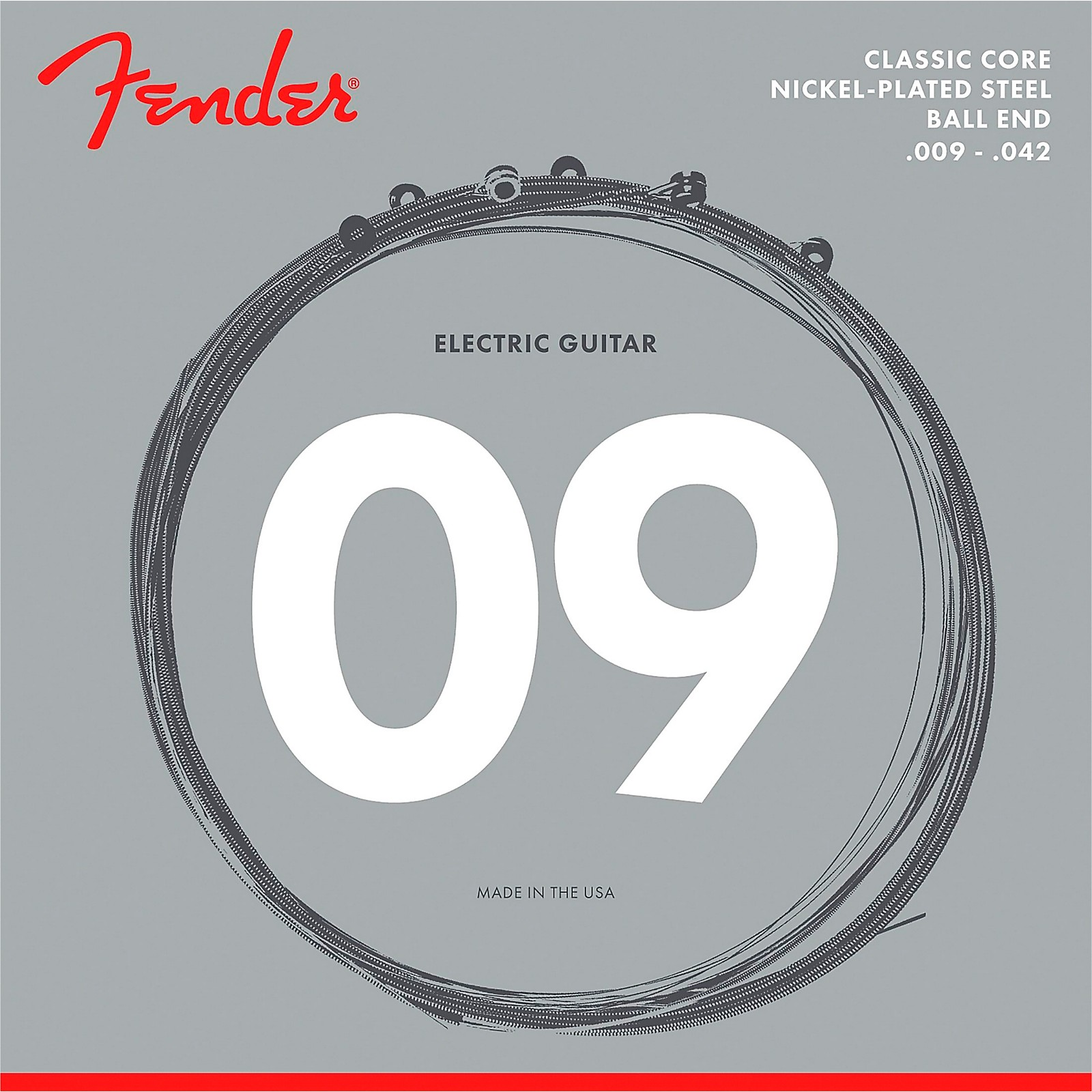 Fender Classic Core 255L Nickel-Plated Steel Ball End Light Guitar Strings