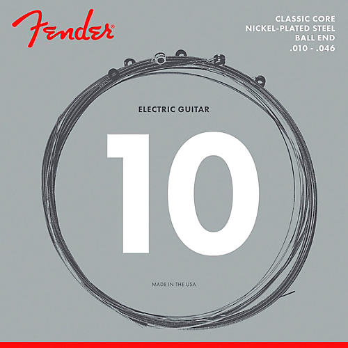 Fender Classic Core 255R Nickel-Plated Steel Ball End Regular Guitar Strings