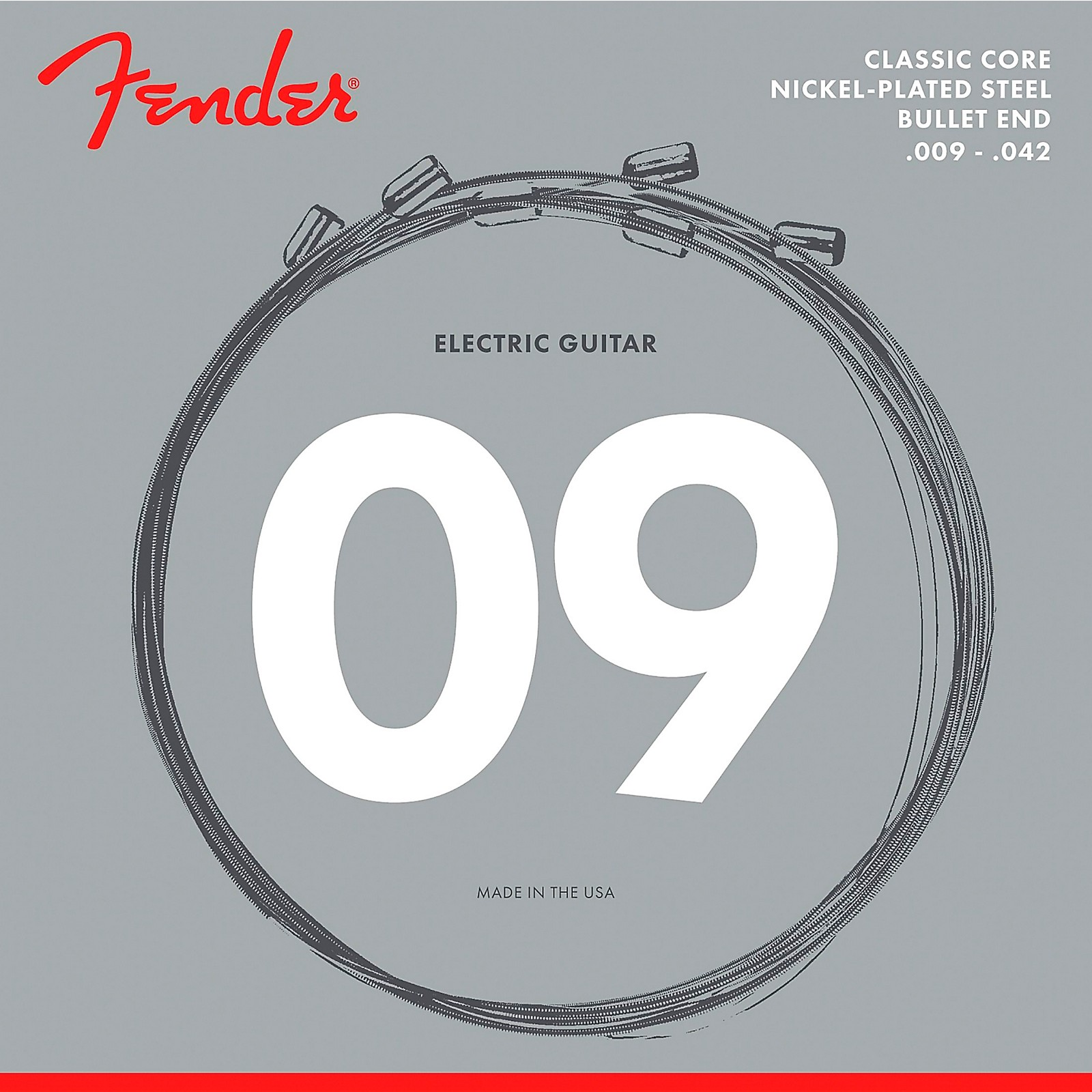 Fender Classic Core 3255L Nickel-Plated Steel Bullet End Light Guitar Strings