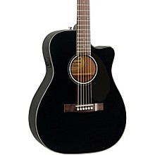 Classic Design Series CC-60SCE Cutaway Concert Acoustic-Electric Guitar Black