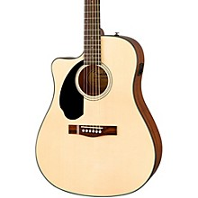 Open BoxFender Classic Design Series CD-60SCE Cutaway Dreadnought Left-Handed Acoustic-Electric Guitar