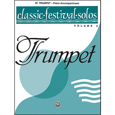 Alfred Classic Festival Solos (B-Flat Trumpet) Volume 2 Piano Acc.