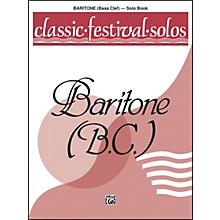 Alfred Classic Festival Solos (Baritone B.C.) Volume 1 Solo Book