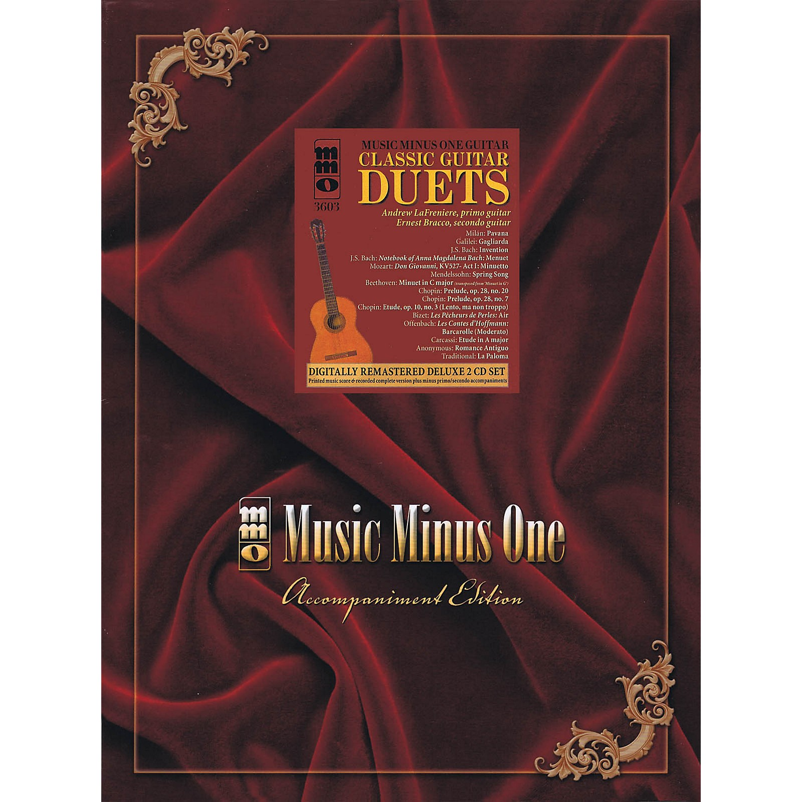 Music Minus One Classic Guitar Duets (Deluxe 2-CD Set) Music Minus One Series Softcover with CD