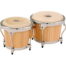 Classic II Bongos with Chrome Hardware Natural