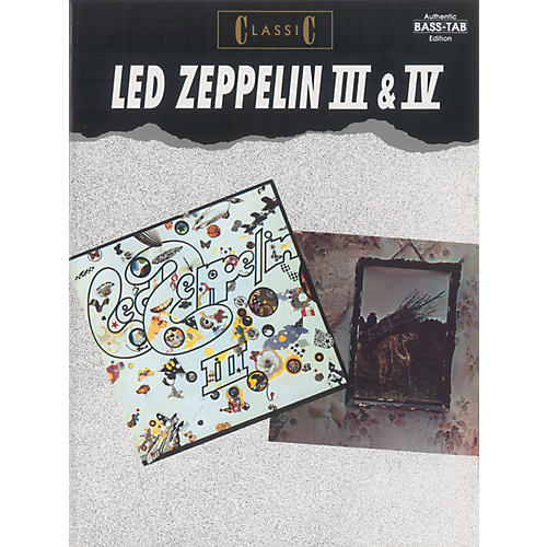 Alfred Classic Led Zeppelin III & IV Bass Tab Book