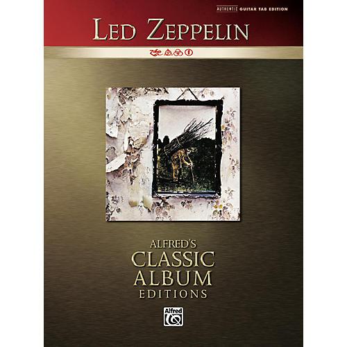 alfred classic led zeppelin iv guitar tab book musician 39 s friend. Black Bedroom Furniture Sets. Home Design Ideas