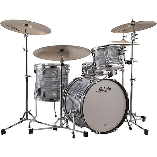 Ludwig Classic Maple 3-Piece Downbeat Shell Pack with 20 in. Bass Drum Sky Blue Pearl