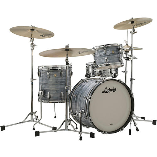 Ludwig Classic Maple 3-Piece Downbeat Shell Pack with 20 in. Bass Drum Vintage Blue Oyster