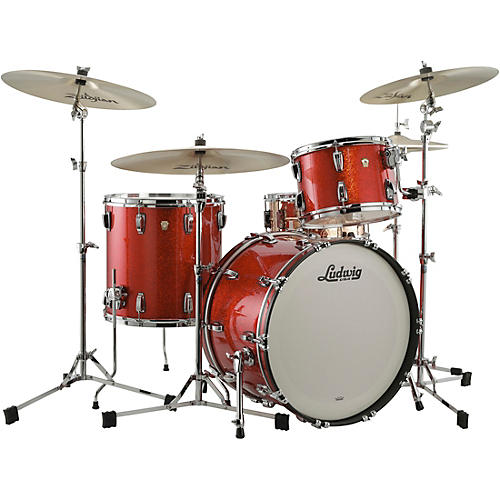 Ludwig Classic Maple 3-Piece Fab Shell Pack with 22 in. Bass Drum Orange Glitter