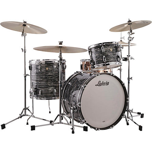 Ludwig Classic Maple 3-Piece Fab Shell Pack with 22 in. Bass Drum Vintage Black Oyster Pearl